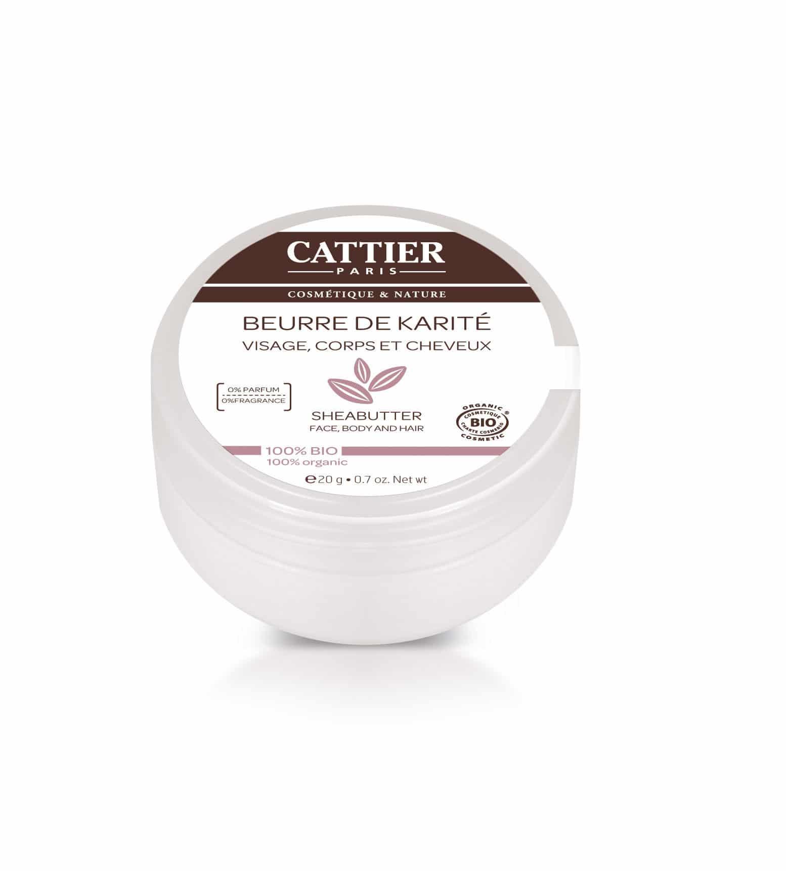 Cattier Photo NPKP Beurre de Karité 100 Bio Blooom trousses de toilette de voyage et soins d'hygiène