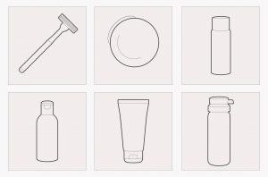 icone des produits des trousses de toilette