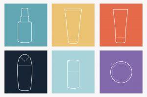 icone en couleur des produits des trousses de toillete