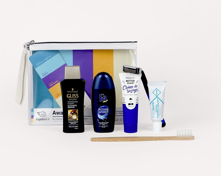 soins hygiénique trousse de toilette away we go
